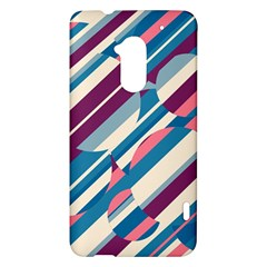 Blue and pink pattern HTC One Max (T6) Hardshell Case