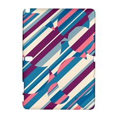 Blue and pink pattern Samsung Galaxy Note 10.1 (P600) Hardshell Case