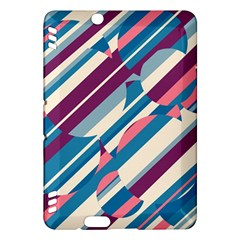 Blue and pink pattern Kindle Fire HDX Hardshell Case