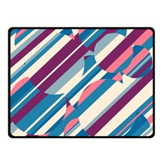 Blue and pink pattern Double Sided Fleece Blanket (Small)