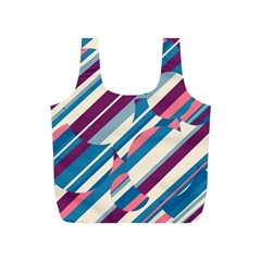 Blue and pink pattern Full Print Recycle Bags (S)