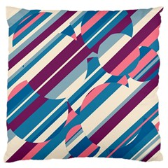 Blue and pink pattern Standard Flano Cushion Case (Two Sides)