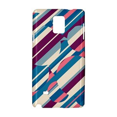 Blue and pink pattern Samsung Galaxy Note 4 Hardshell Case