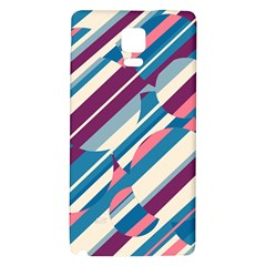 Blue and pink pattern Galaxy Note 4 Back Case
