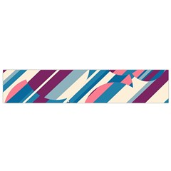 Blue and pink pattern Flano Scarf (Small)