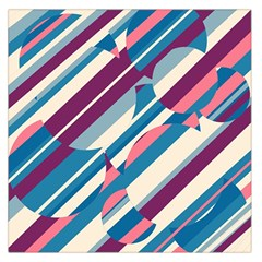Blue and pink pattern Large Satin Scarf (Square)