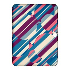 Blue and pink pattern Samsung Galaxy Tab 4 (10.1 ) Hardshell Case