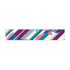 Blue And Pink Pattern Flano Scarf (mini)