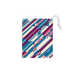 Blue And Pink Pattern Drawstring Pouches (xs)