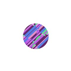 Pink, purple and green pattern 1  Mini Magnets