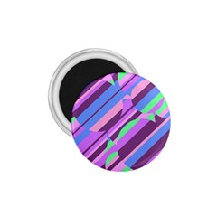 Pink, purple and green pattern 1.75  Magnets