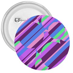 Pink, purple and green pattern 3  Buttons