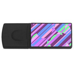 Pink, purple and green pattern USB Flash Drive Rectangular (2 GB)