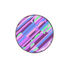 Pink, purple and green pattern Hat Clip Ball Marker (10 pack)