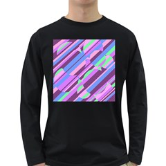 Pink, purple and green pattern Long Sleeve Dark T-Shirts