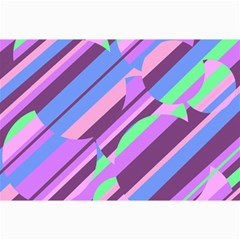 Pink, purple and green pattern Collage Prints