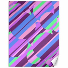 Pink, purple and green pattern Canvas 12  x 16
