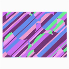 Pink, purple and green pattern Large Glasses Cloth (2-Side)