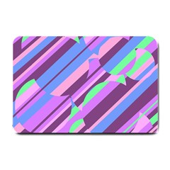 Pink, purple and green pattern Small Doormat