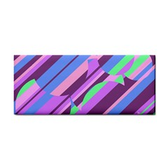 Pink, purple and green pattern Hand Towel
