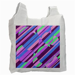 Pink, purple and green pattern Recycle Bag (One Side)