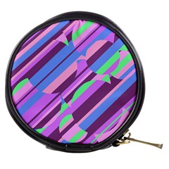 Pink, purple and green pattern Mini Makeup Bags