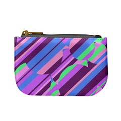 Pink, purple and green pattern Mini Coin Purses