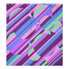 Pink, purple and green pattern Shower Curtain 66  x 72  (Large)