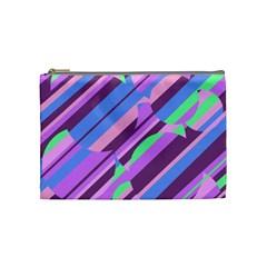 Pink, purple and green pattern Cosmetic Bag (Medium)