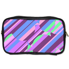 Pink, purple and green pattern Toiletries Bags