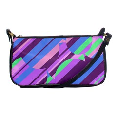 Pink, purple and green pattern Shoulder Clutch Bags