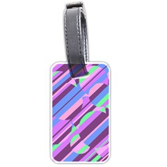 Pink, purple and green pattern Luggage Tags (One Side)