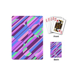 Pink, purple and green pattern Playing Cards (Mini)