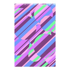 Pink, purple and green pattern Shower Curtain 48  x 72  (Small)