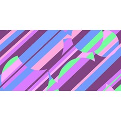 Pink, purple and green pattern YOU ARE INVITED 3D Greeting Card (8x4)