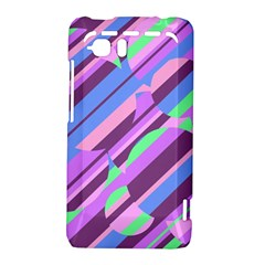 Pink, purple and green pattern HTC Vivid / Raider 4G Hardshell Case
