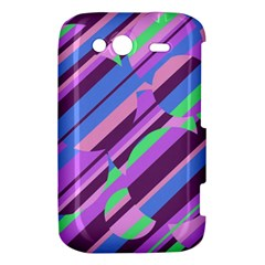 Pink, purple and green pattern HTC Wildfire S A510e Hardshell Case