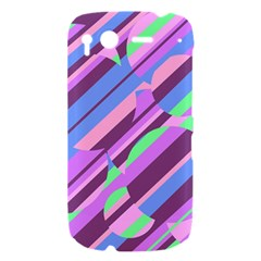 Pink, purple and green pattern HTC Desire S Hardshell Case
