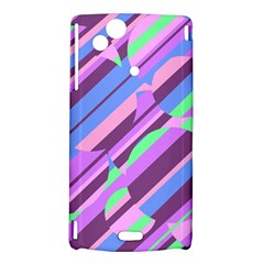 Pink, purple and green pattern Sony Xperia Arc