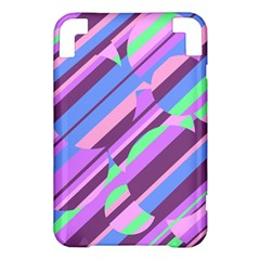 Pink, purple and green pattern Kindle 3 Keyboard 3G