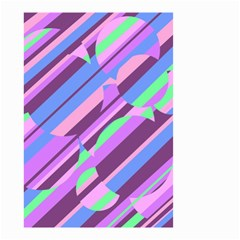 Pink, purple and green pattern Small Garden Flag (Two Sides)