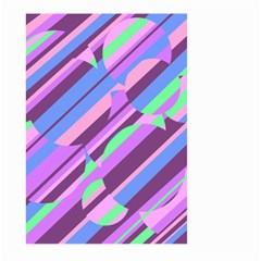 Pink, purple and green pattern Large Garden Flag (Two Sides)