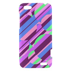 Pink, purple and green pattern HTC One V Hardshell Case