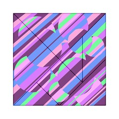 Pink, purple and green pattern Acrylic Tangram Puzzle (6  x 6 )