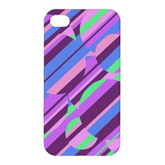 Pink, purple and green pattern Apple iPhone 4/4S Premium Hardshell Case