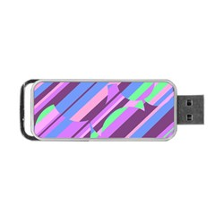 Pink, purple and green pattern Portable USB Flash (Two Sides)