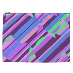 Pink, purple and green pattern Cosmetic Bag (XXL)