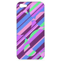 Pink, purple and green pattern Apple iPhone 5 Hardshell Case