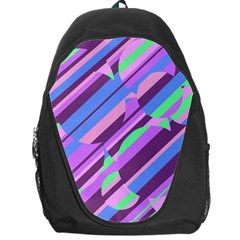 Pink, purple and green pattern Backpack Bag