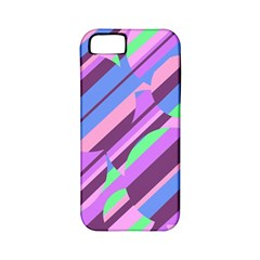 Pink, purple and green pattern Apple iPhone 5 Classic Hardshell Case (PC+Silicone)